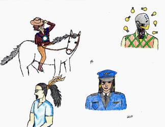 OW random sketches by Maria-Korneliou