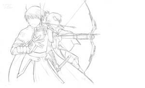 Warriors of Amestris...Lineart by xFrEAKk