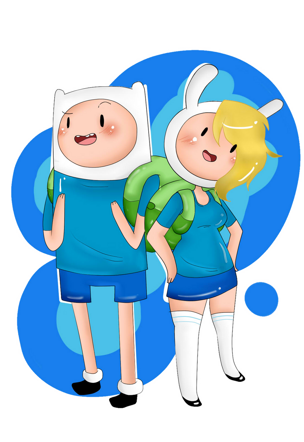 Finn and Fionna by Zllm