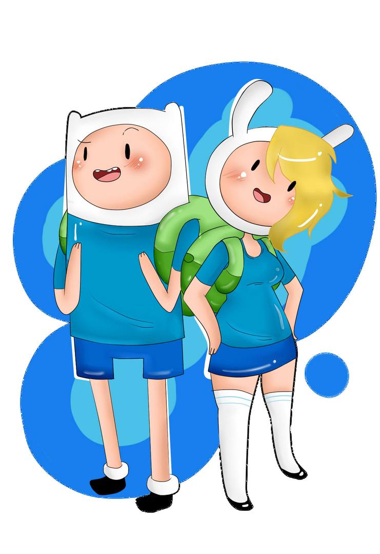 Finn and Fionna by Zllm