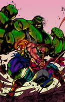 Hulk Smashem By Joe Madureira   Flats By Hellica O