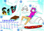 JCA Winter January Calendar by QueenSolaris