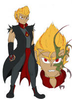 [EDIT] COMMISSION- Drago human form by QueenSolaris