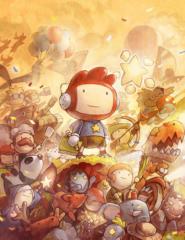 scribblenauts cover01 by ushio18