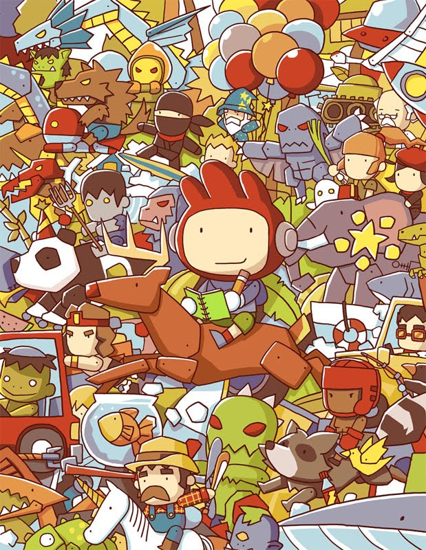 scribblenauts cover02 by ushio18