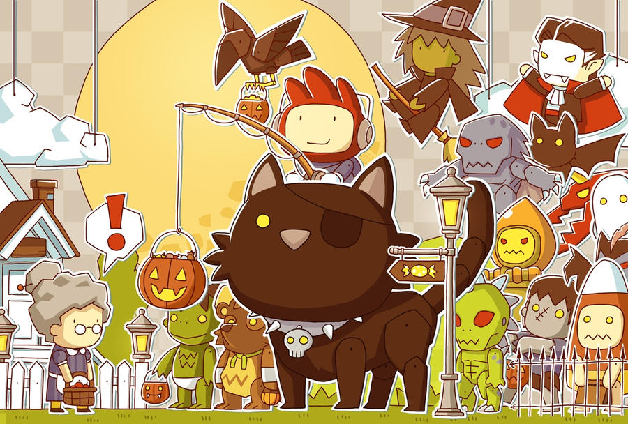 Maxwell Scribblenauts Drawing : Scribblenauts halloween by ushio on deviantart
