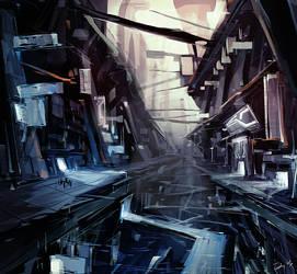 Futuristic Landscape by ushio18