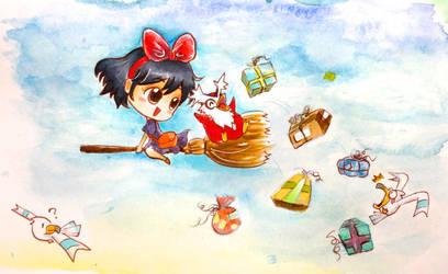Pokezaki series 2- Kiki and Delibird