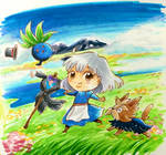Pokezaki series 7- Sophie, Herdier, and Oddish