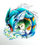 Pokezaki charm design #8- Haku and Gyarados
