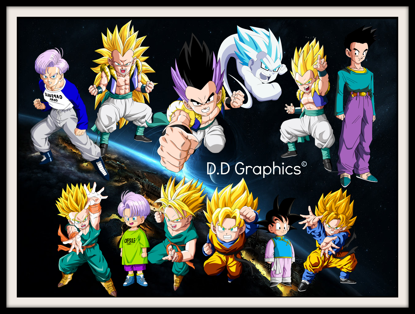 Goten and Trunks: the first Fusion by DDGraphics on DeviantArt