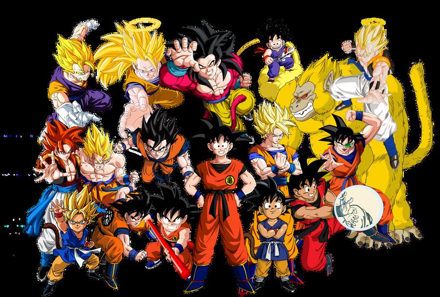 Imagen De Goku Kakaroto Normal Fase 1 Fase Dos Fase 3 Fase: All Goku Render/Vector By DDGraphics On DeviantArt