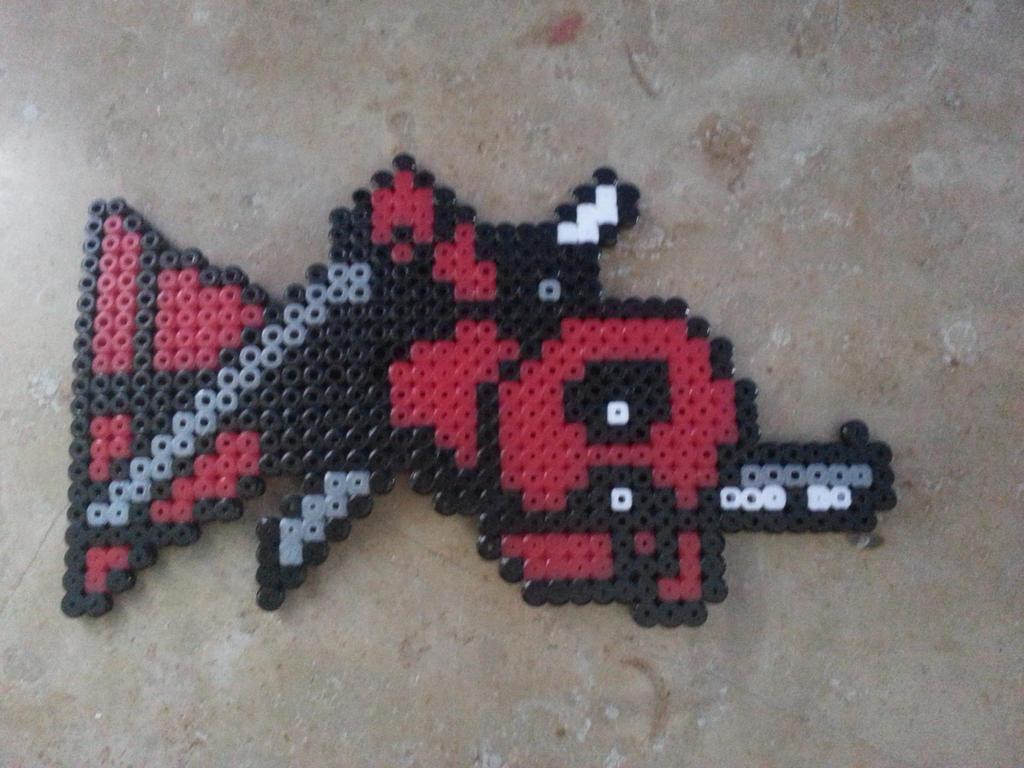 Deadpool perler beads by jeanney