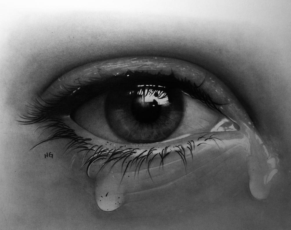 crying eye by hg art on deviantart