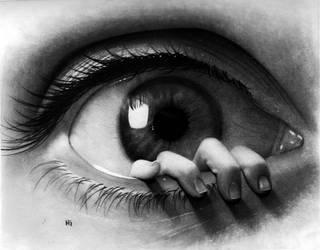 surreal eye drawing by hg-art