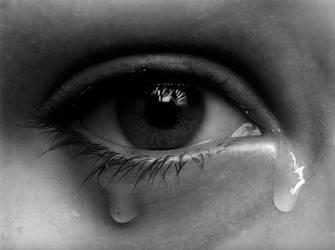 crying eye drawing (redraw) by hg-art