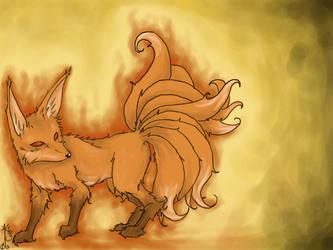 nine tail fox demon... FIN by SelphieKwanYin