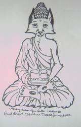buddha fox inks by SelphieKwanYin