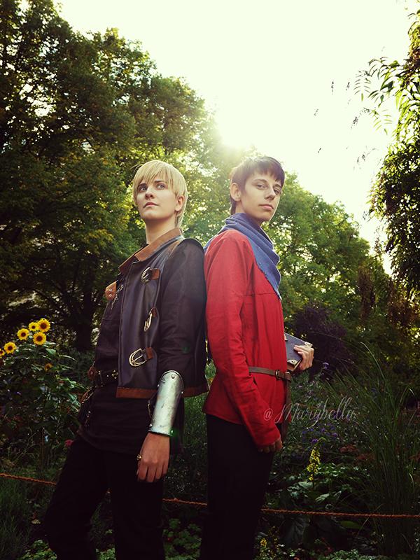 Friends - Arthur and Merlin by arsidoas