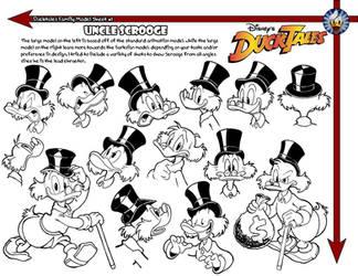 Scrooge McDuck Model Sheet by jongraywb