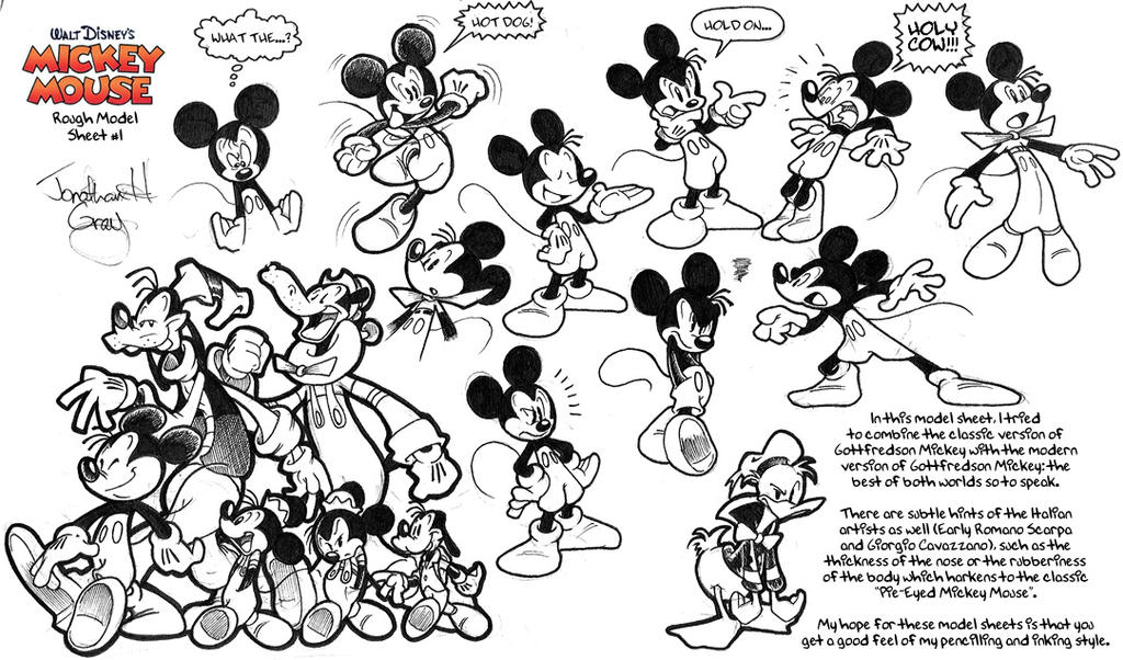 Old Mickey Mouse Model Sheet 1 By Jongraywb On Deviantart