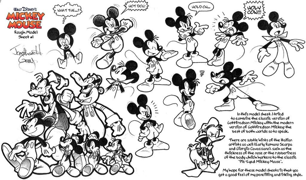 Old Mickey Mouse Model Sheet 1 By Jongraywb On DeviantArt