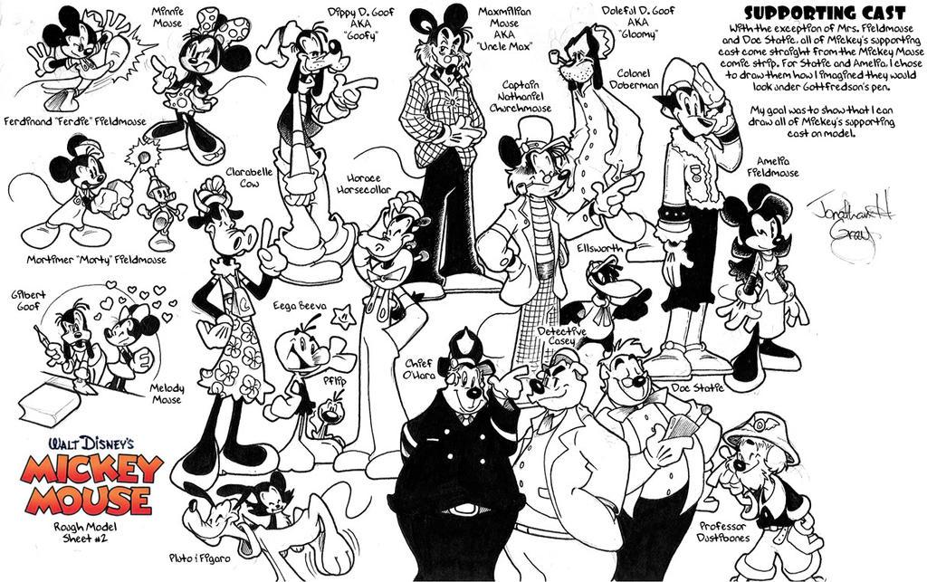 Old Mickey Mouse Model Sheet #2 by jongraywb