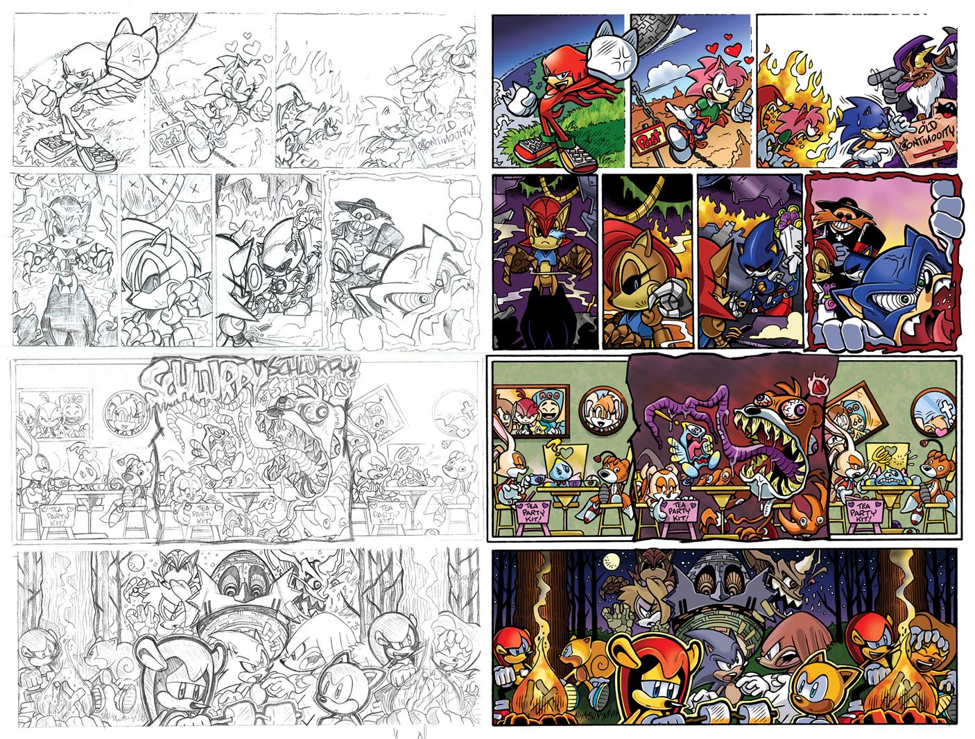 Off Panels: Sonic the Hedgehog #229-232 by jongraywb