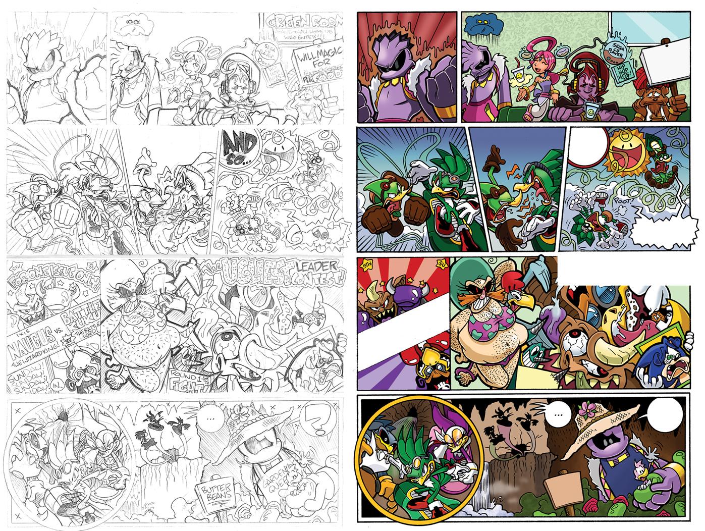 Off Panels: Sonic Universe #33-36 (Babylon Rising) by jongraywb