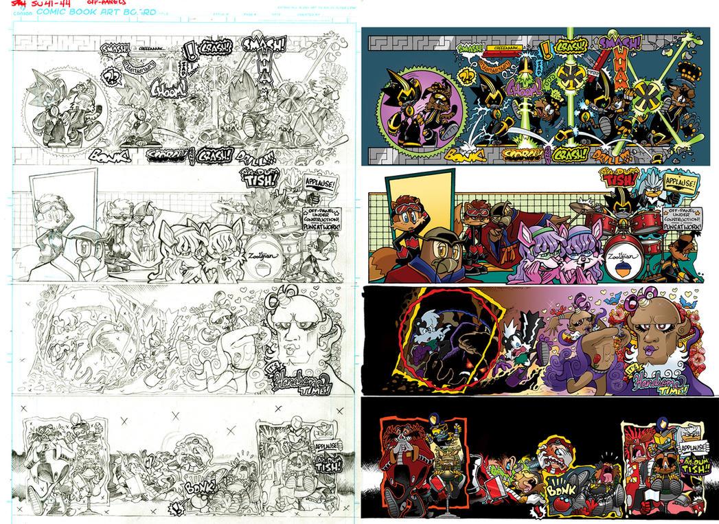 Off Panels: Sonic Universe #41-44 (Secret Freedom) by jongraywb