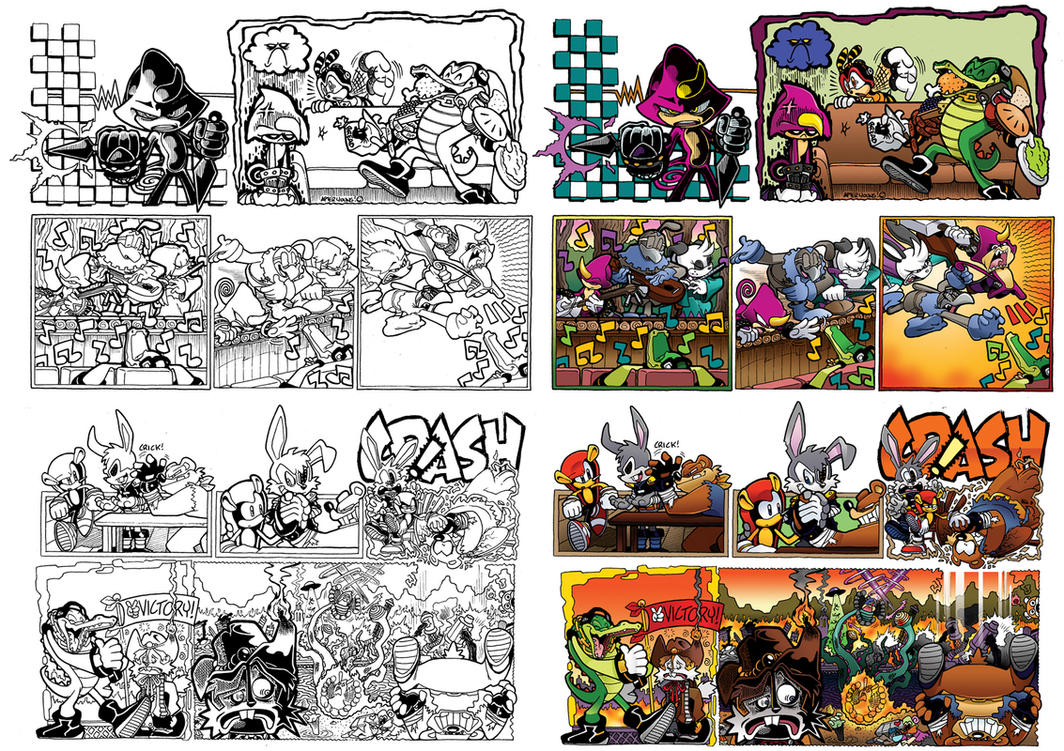 Off Panels: Sonic Universe #46-49 (Chaotix Quest) by jongraywb