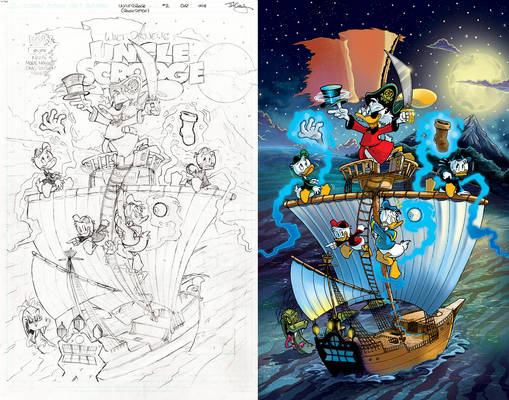 Uncle Scrooge #2 (#406) Cover: 'Shiver Me Timbers'