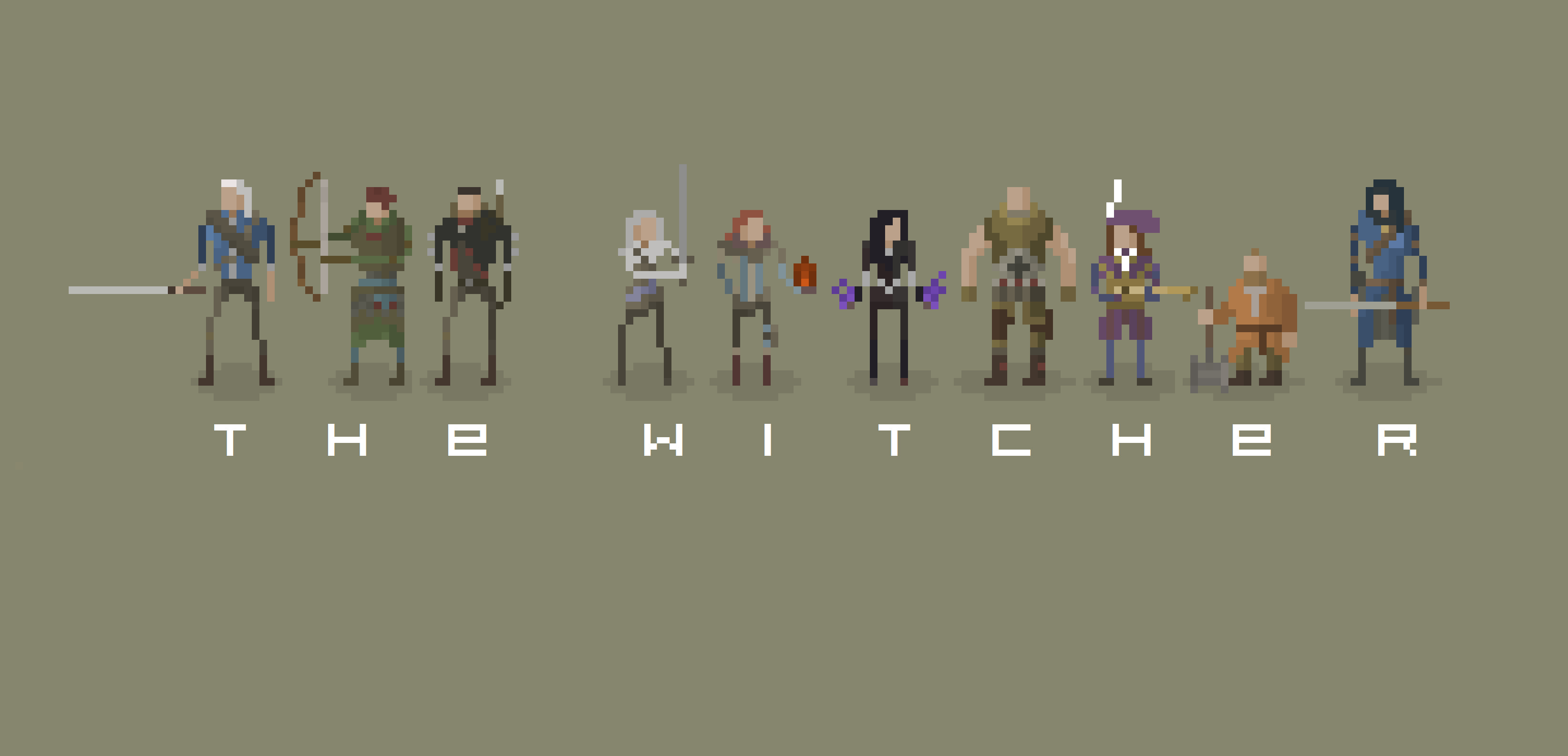 Character Design Pixel Art : Witcher characters pixel art by stagbit on deviantart
