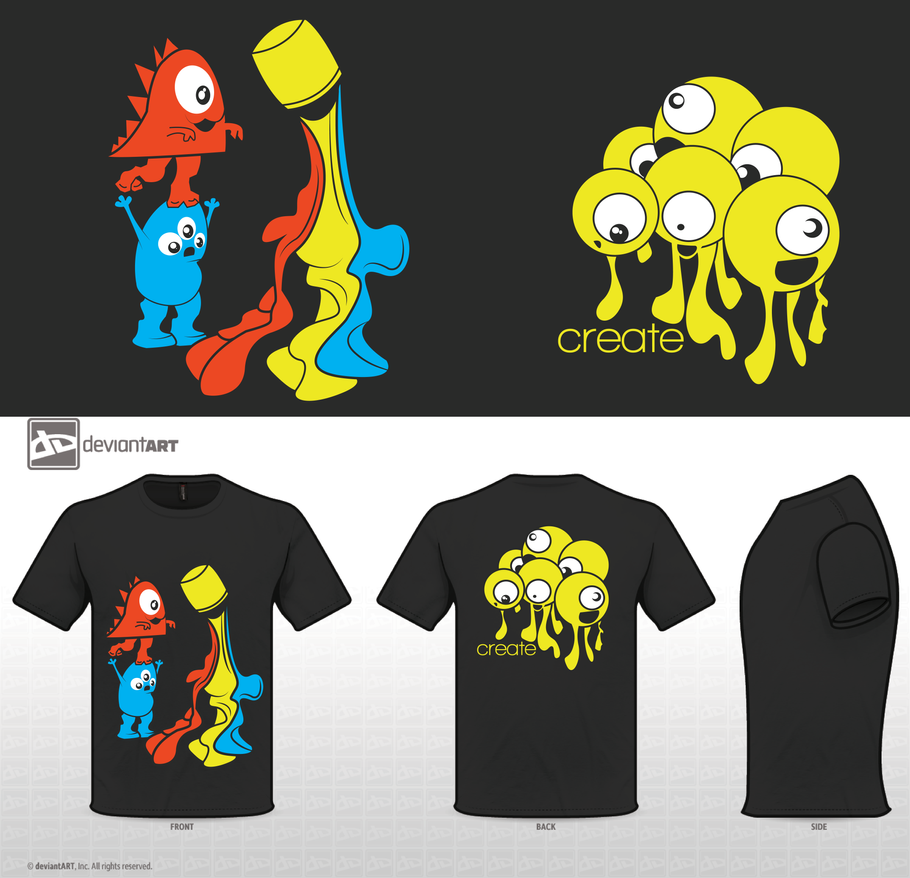 Creative Process: Monster T-Shirt Design by SanguineEpitaph