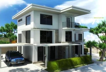 Minimalist House Design by arczai