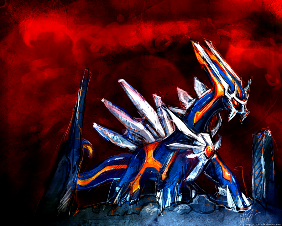 pokemon coloring pages dialga. Primal Dialga by alicexz on