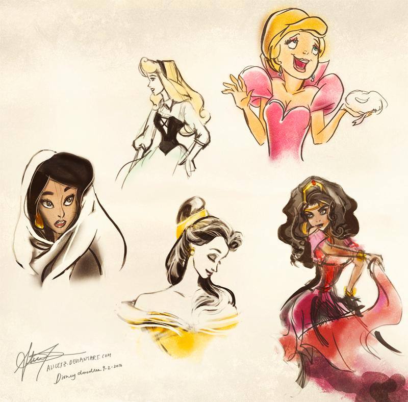Disney doodles 9.02.10...