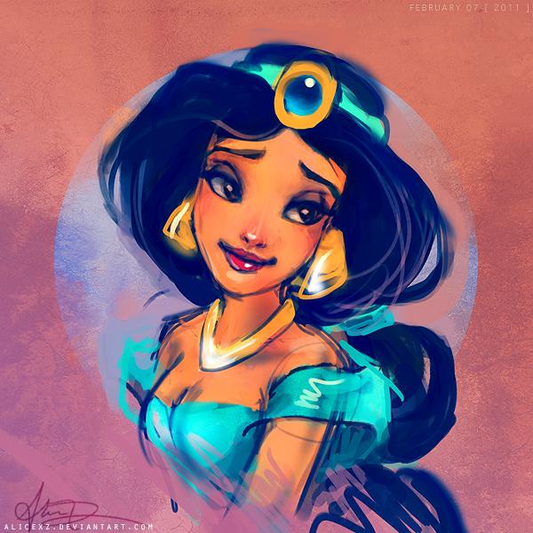 Принцессы Диснея - Страница 2 Jasmine_by_alicexz-d3ahq3l