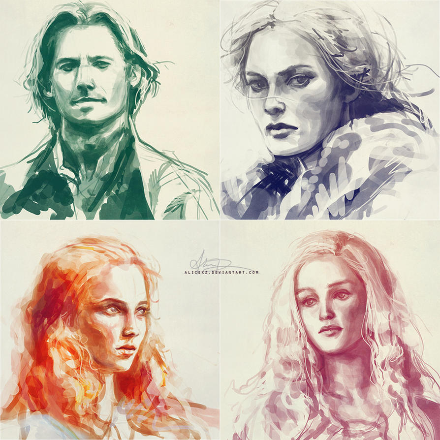 Game of Thrones studies by alicexz