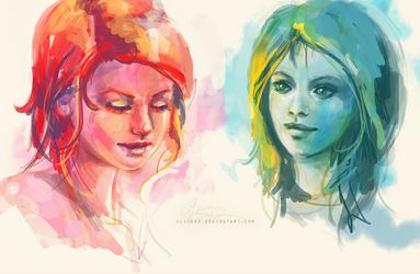 Color studies herp derp by alicexz
