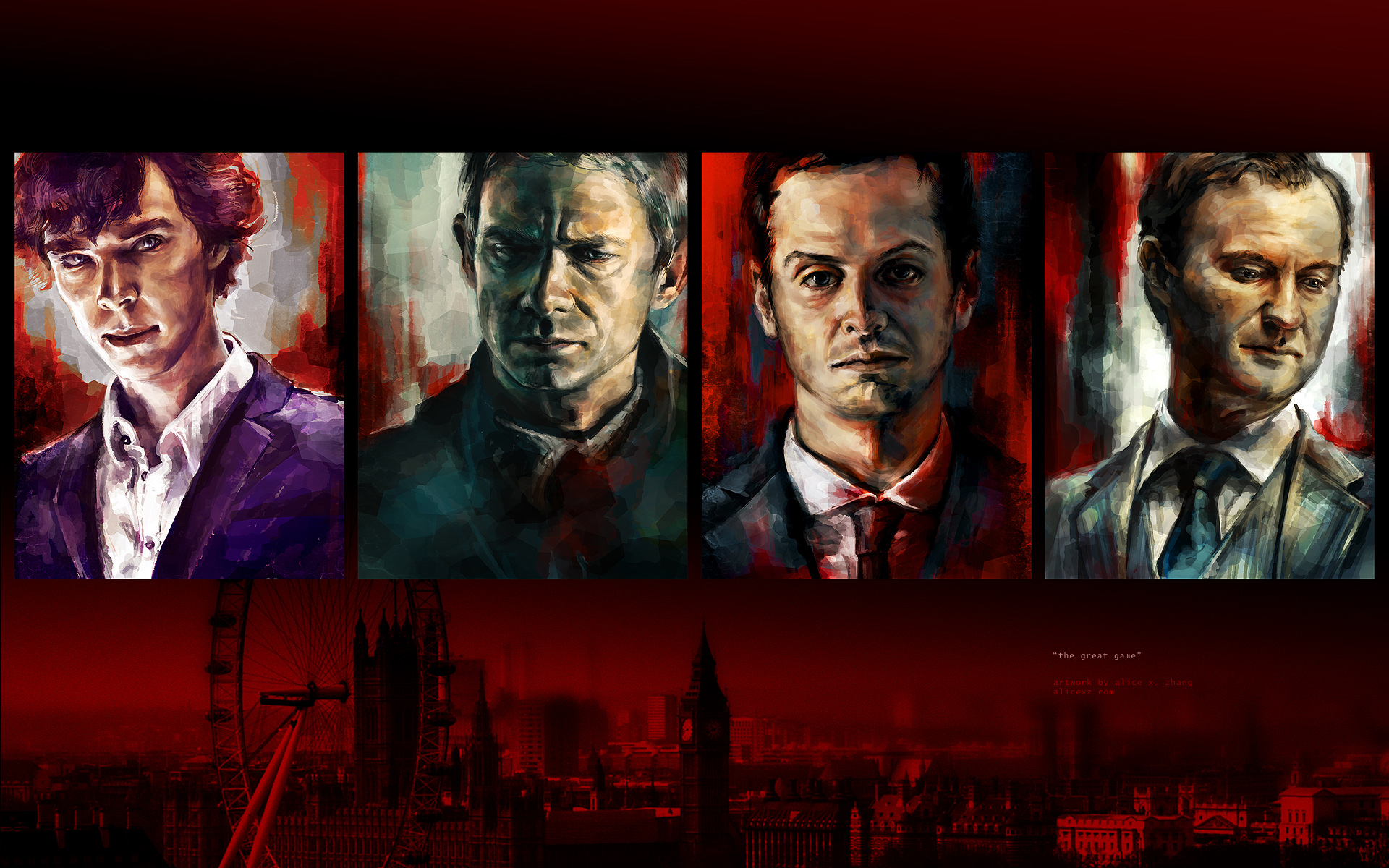 Sherlock Fan Art Wallpaper The Great Game By Alicexz Datgb