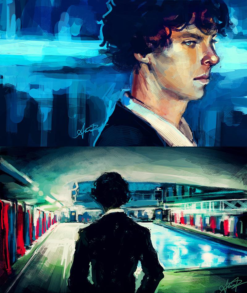 Sherlock sketches by alicexz