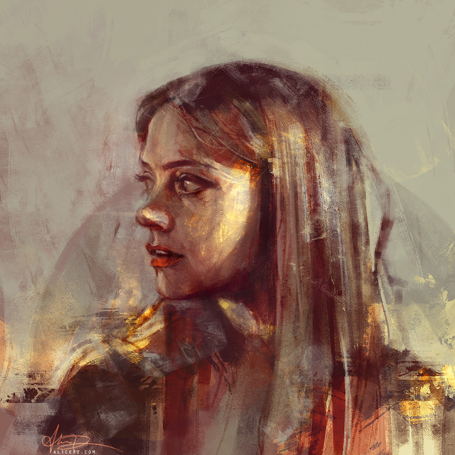 Remember me by alicexz on deviantart for Basic portrait painting