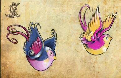 Flash sheet - Birds 2 by MilkshakePunch