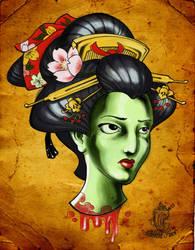 Head of Geisha by MilkshakePunch