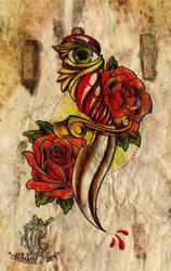 Dagger and Roses by MilkshakePunch