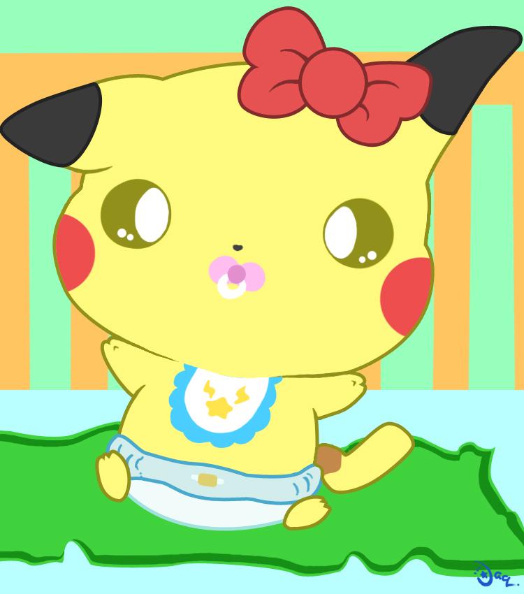 Cute baby pikachu - photo#26