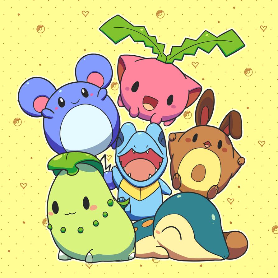 Celebrating Pokemon Gen II by aquabluu