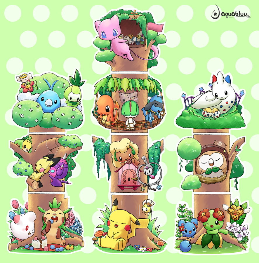 Pokemon Forest by aquabluu