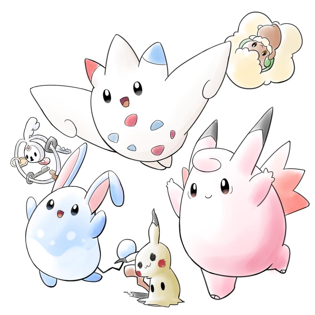 Pokemon Fairy Team by aquabluu